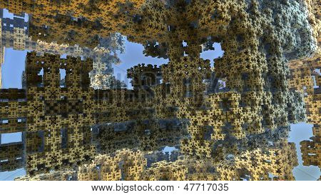 Alien world 3D fractal