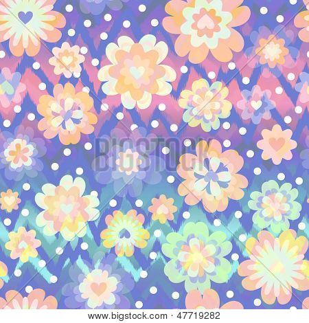 Pretty pastel floral ~ seamless background