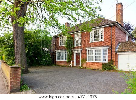 Traditional brick house in England