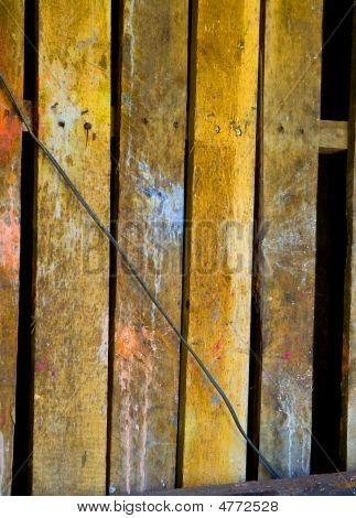 Grungy Old Wooden Fence