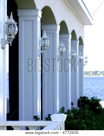 Lamps On Columns