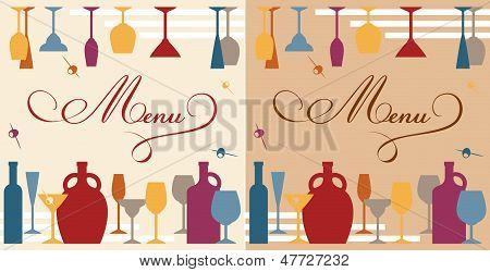 Menu template for bar or restaurant