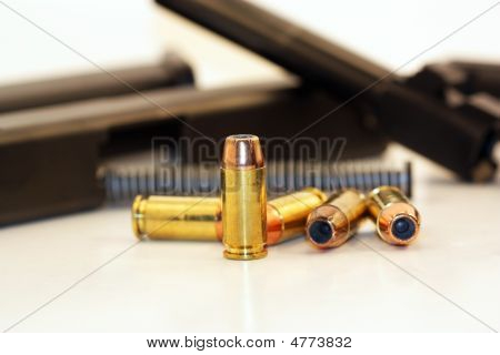 Bullet With Gun Parts