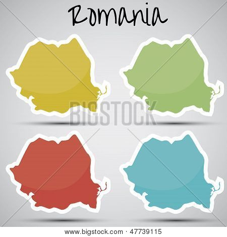 stickers in form of Romania