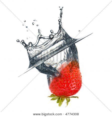 Abstract Strawberry Splash
