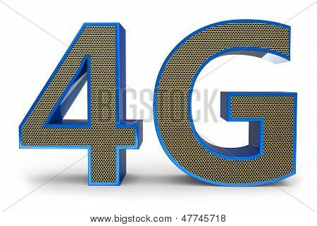 3D Sign Of 4G Broadband