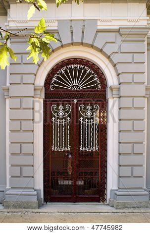 Architectural door detail