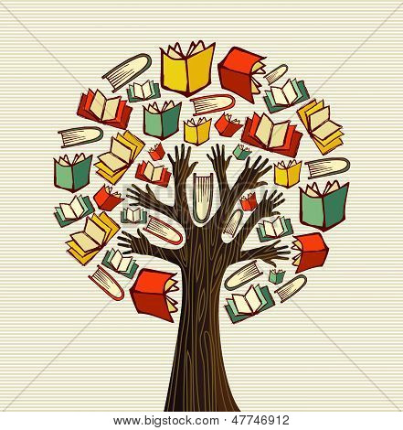 Concept Design Hand Books Tree