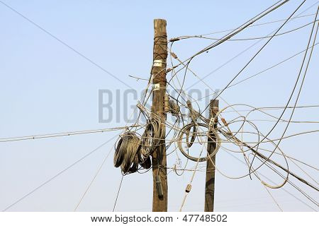 Wire And Telegraph Pole