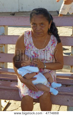 Mexican Mother And Child