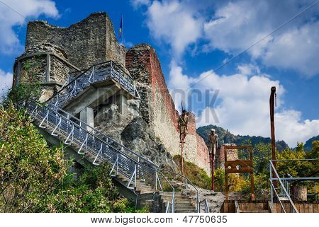 Ruins Of Poenari Fortress, Romania