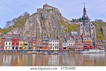 The Citadel, the Collegiate Church and the Meuse.