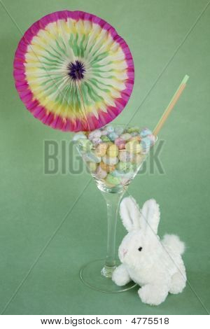 Jelly Bean Easter Martini With Bunny