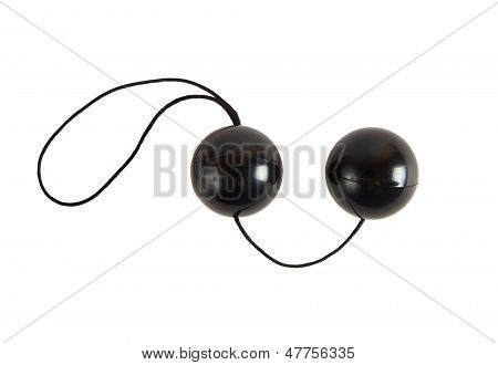 Black Loveballs On White