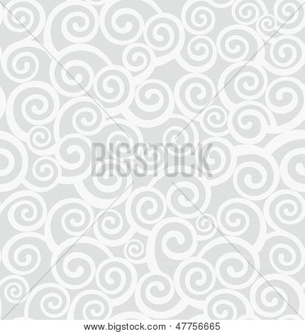 Pattern With Curlicues. Vector Illustration