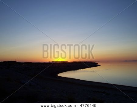 Sunset At Antelope Island