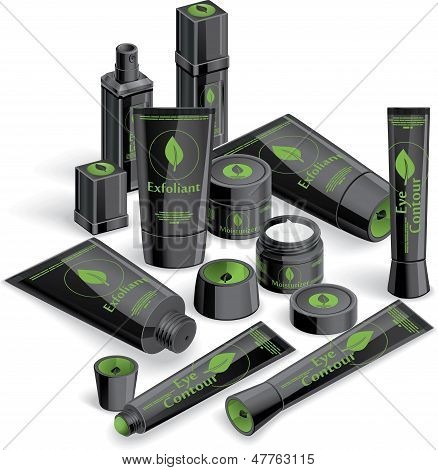 Black Cosmetics Array