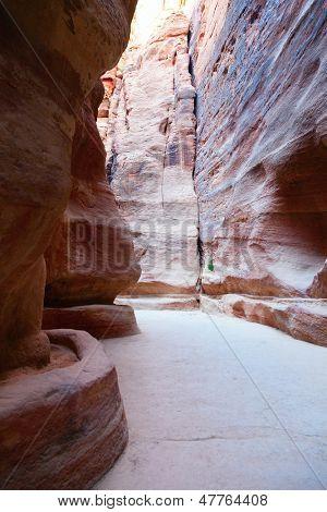Al-Siq en Petra, Jordania