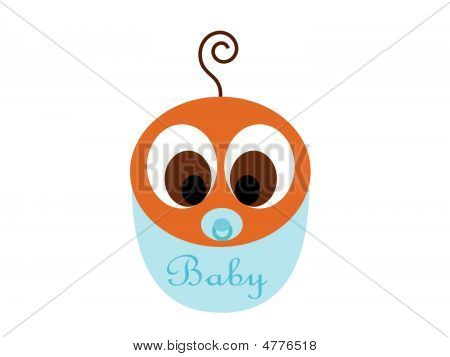 Little African American Baby Boy Vector