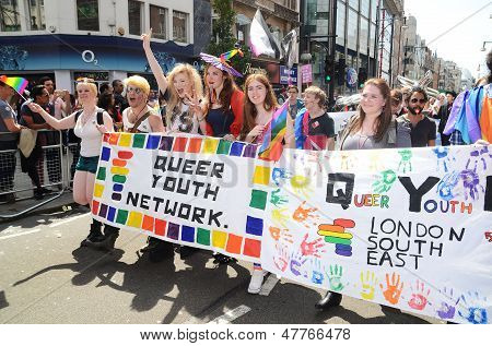 The Annual Pride March Through London That Celebrate Gay, Lesbian And Bi Sexual People In Londons Ox