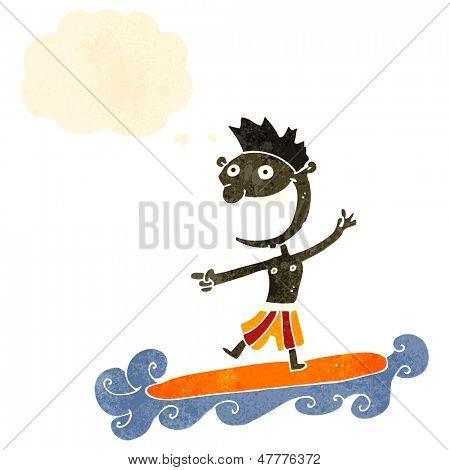 surfista retrô dos desenhos animados