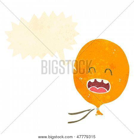 retro cartoon shrieking balloon