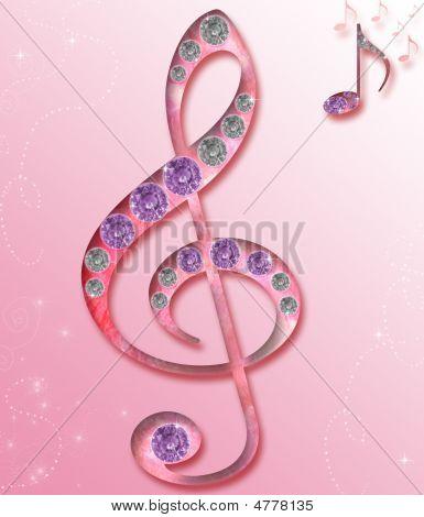 Tecla de música violino