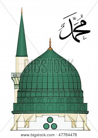 Illustration Of Al-masjid An-nabawi