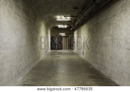 Blast Tunnel In A Bomb Shelter