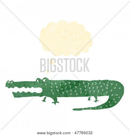 retro cartoon alligator