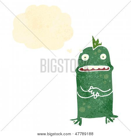 retro cartoon swamp monster