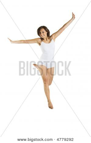 Women With Underwear Is Jumping