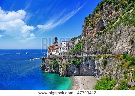 Smaragd Küste, Atrani. Italien