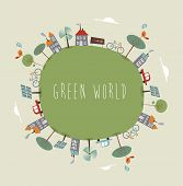 Green World Cute Design