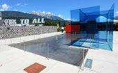 WATTENS, AUSTRIA - JULY 1: Entrance to Swarovski Kristallwelten exhibition of glass art, july 1, 201