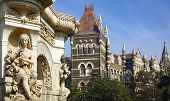 pic of british bombay  - Flora Fountain and Oriental Building in Mumbai - JPG