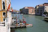 stock photo of academia  - View of Canal grande from the Academia bridge - JPG