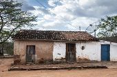picture of mud-hut  - Poor mud house in the northeastern Brazilian - JPG