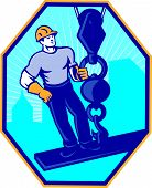foto of girder  - Illustration of construction worker riding on i - JPG