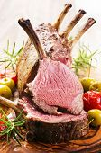 stock photo of deer meat  - lamb rack - JPG