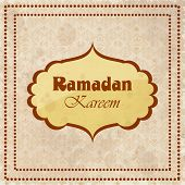 Muslim community holy month Ramadan Kareem vintage background.