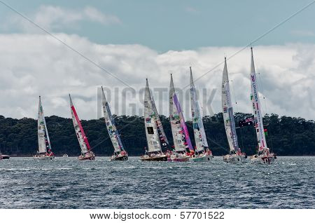 Clippers In Sydney To Hobart Yacht Race