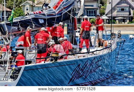 Wild Oats Xi Before Start Of 2013 Sydney To Hobart