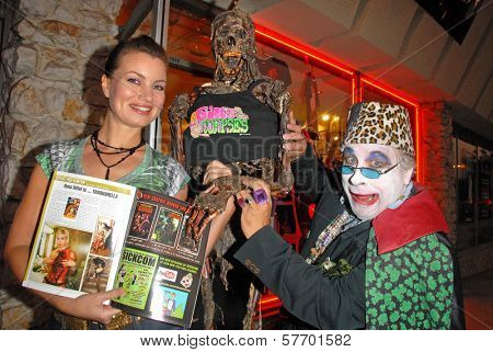 Rena Riffel and Count Smokula  at the Magazine release party for GIRLS AND CORPSES, Vol. 3, Hyaena Gallery, Burbank, CA. 08-15-09
