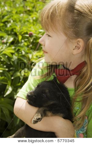 Girl With Puppy