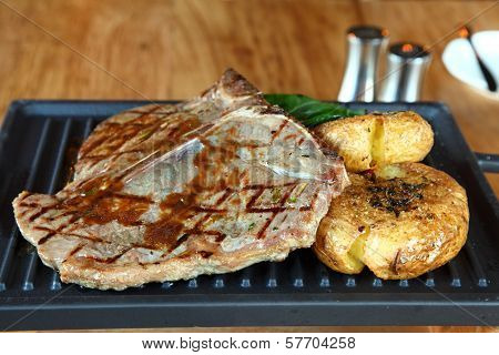 Beefsteak With Fried Potato