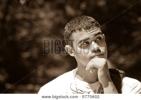 Man In Deep Thought