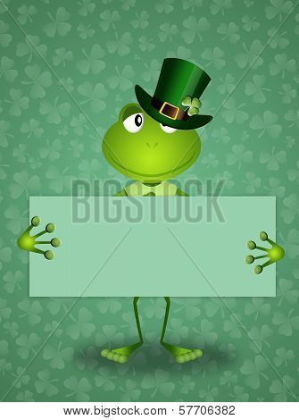 Green Frog In St.patrick's Day