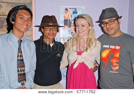 Tony Young, Clinton H. Wallace, Andromeda Ambard and Ramzi Abed at the dual screenings of