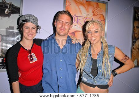 Katherine Carlson, Brad T. Gottfred and Tonya Kay  at the dual screenings of
